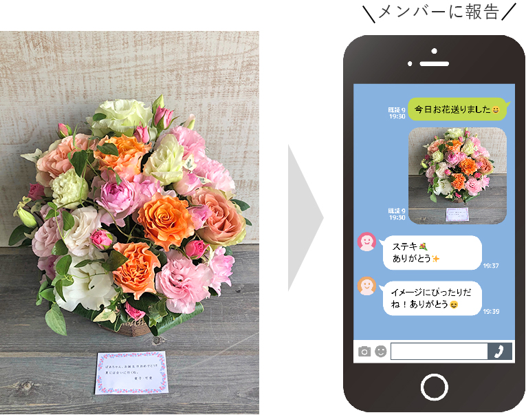 お花の画像をメールでお届け