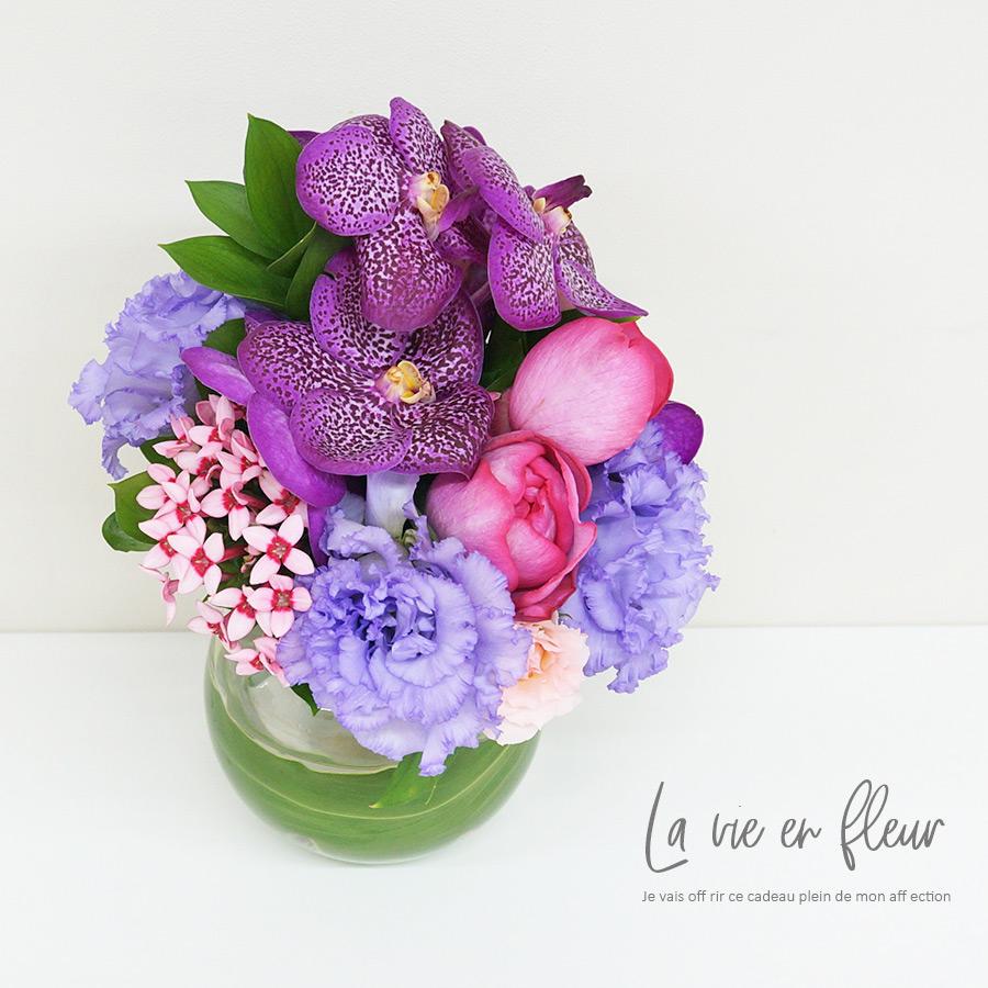 生花ブーケと花瓶のセットギフト