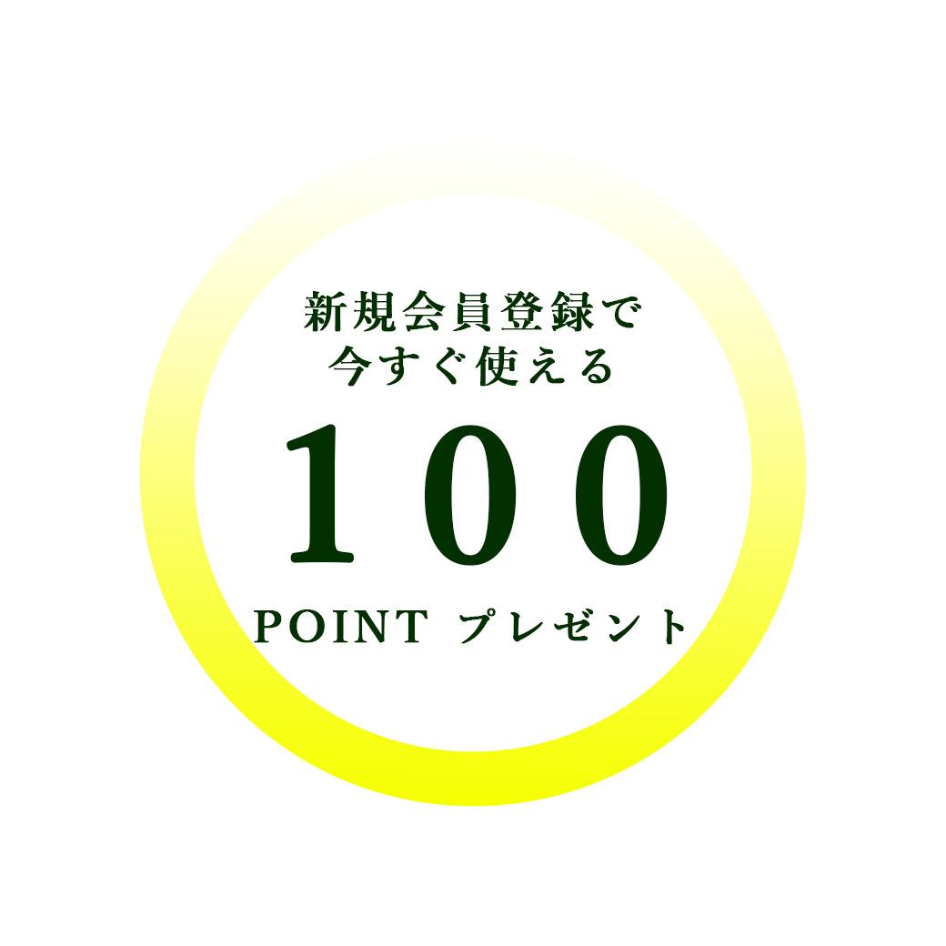 会員登録で100ポイント