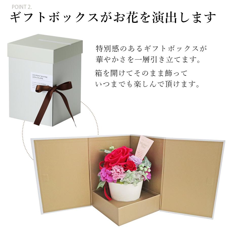 ギフトボックスがお花を演出する母の日のフラワーギフト