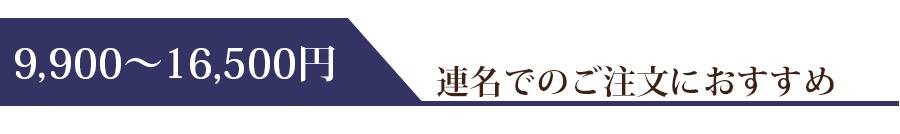 9900円~16500円