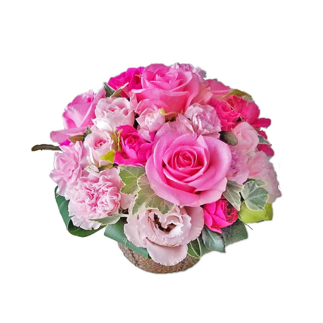 誕生日の花バラのキュートアレンジメント