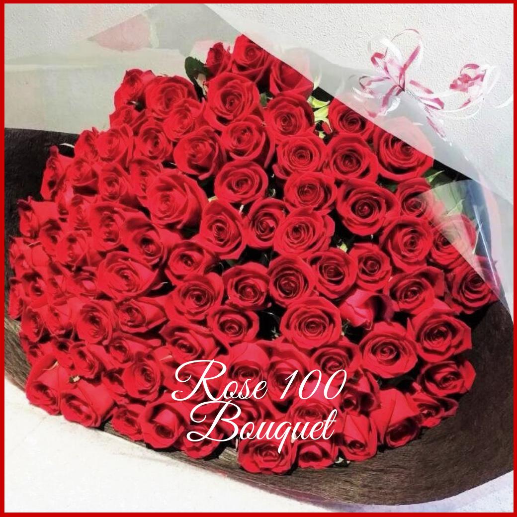赤バラ 100本